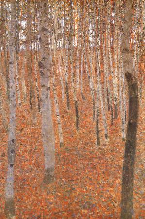 Gustav Klimt Forest of Beech Trees Art Poster Print