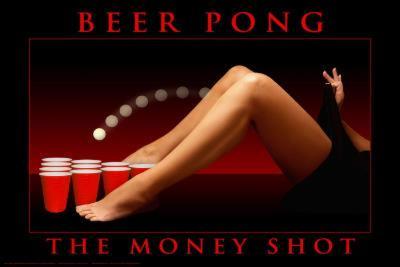 Sam Maxwell The Money Shot, Beer Pong Art Poster Print