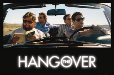 Hangover Movie Group in Car Huge Poster Print