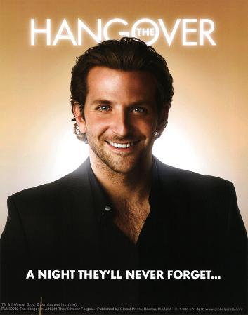 The Hangover Movie Bradley Cooper A Night They'll Never Forget Poster Print