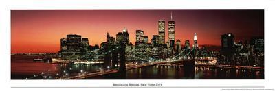 Brooklyn Bridge (New York City Skyline, Panorama) Art Poster Print
