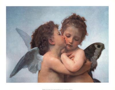 William Bouguereau (The First Kiss) Art Poster Print
