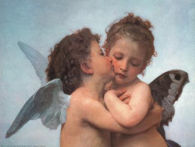 William Bouguereau (The First Kiss, Close Up) Art Poster Print
