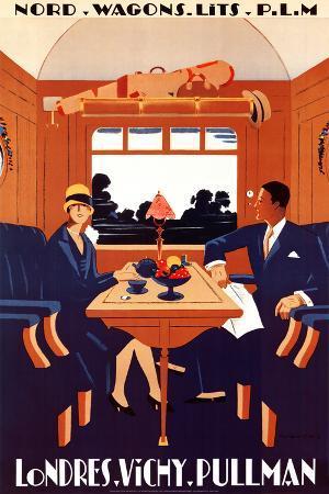 Nord Wagons Lits P.L.M. Londres Vichy Pullman