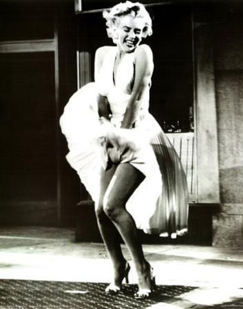 Marilyn Monroe (White Dress) Art Poster Print