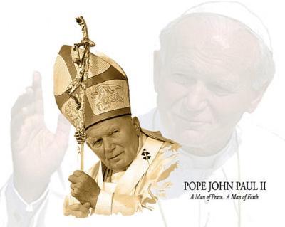 Pope John Paul II (Waving Goodbye) Art Poster Print