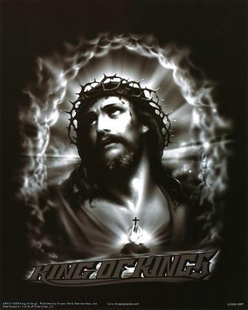 King of Kings (Jesus Christ, B&W) Art Poster Print