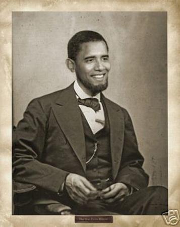 Barack Obama (As Abe Lincoln) Art Poster Print