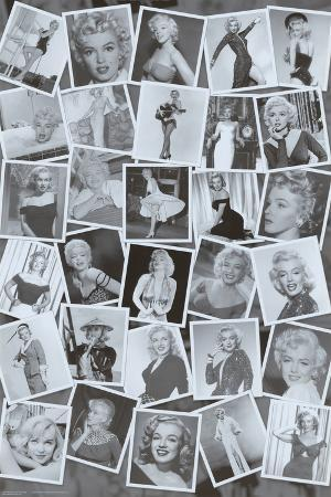 Marilyn Monroe (Black & White Collage) Movie Poster Print