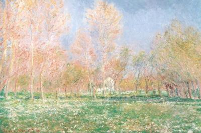 Claude Monet (Spring in Giverny) Art Poster Print