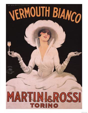 Marcello Dudovich (Vermouth Bianco, Martini & Rossi) Art Print Poster