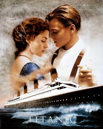 Titanic Movie Leonardo DiCaprio Kate Winslet Poster Print