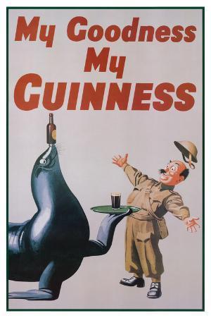 My Goodness My Guinness (Art Deco) Advertisement Poster