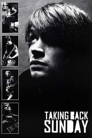 Taking Back Sunday Black and White Music Poster Print