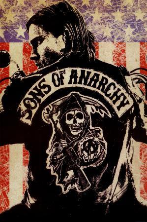 Sons of Anarchy Logo Flag TV Poster Print