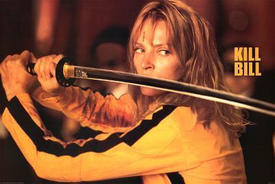 Kill Bill Movie (Uma Thurman w/ Sword) Poster Print