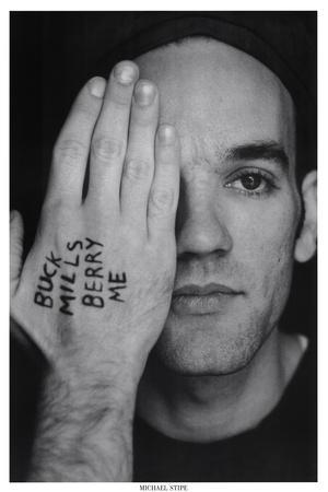 Michael Stipe (Hand & Face) Music Poster Print