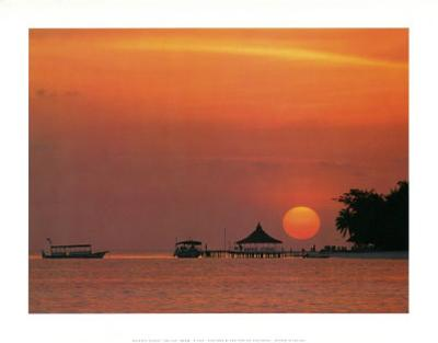 Maldives (Sunset on Ocean)