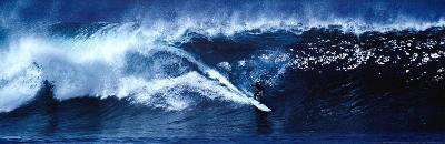 High Surf Surfing Big Wave Panorama