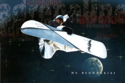 Snowboarder No Boundaries Art Print Poster