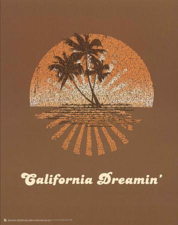 The Mamas and the Papas (California Dreamin' Lyrics) Music Poster Print