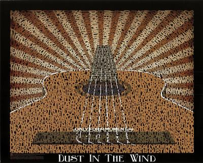 Kansas (Dust in the Wind Lyrics) Music Poster Print