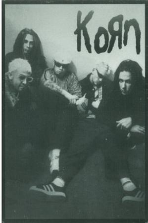 Korn Group B&W Music Postcard Print