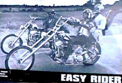 Easy Rider Movie (On Motorcycles) Lobbycard Postcard Print