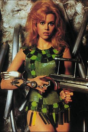 Jane Fonda (Barbarella) Movie Postcard
