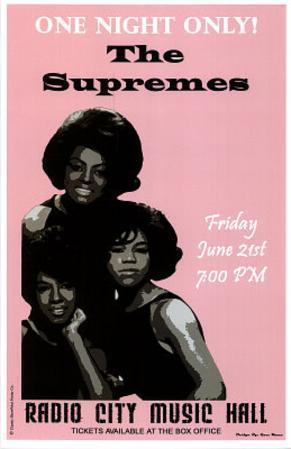 The Supremes (Radio City Music Hall) Music Poster Print