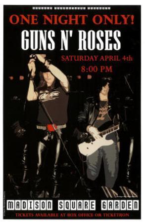 Guns N Roses Madison Square Garden Music Poster Print
