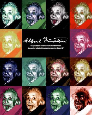 Albert Einstein Tongue Pop Art Poster Print