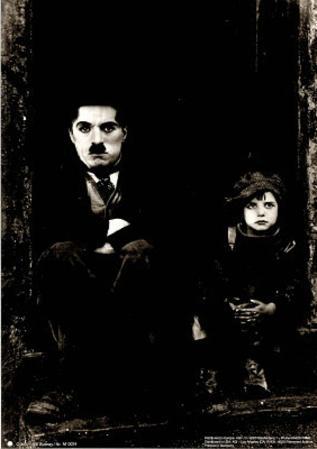 Charlie Chaplin Movie (The Kid) Poster B&W