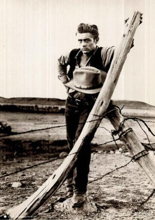 James Dean (Barbed Fence) Movie Poster