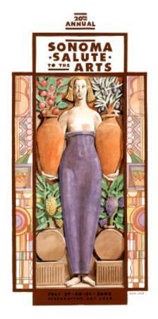 2005 Sonoma Salute to the Arts Art Print Poster