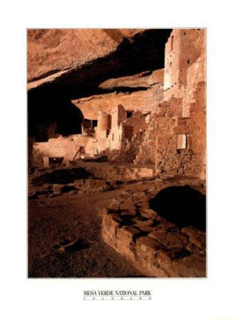 Mesa Verde National Park (Cliff Palace Dwellings) Art Poster Print