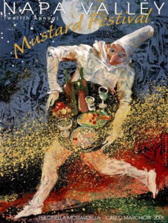 Carlo Marchiori Original 2005 Napa Valley Mustard Festival Art Print Poster