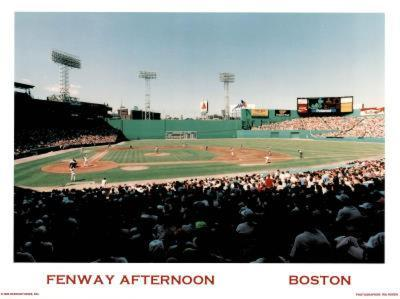 Ira Rosen Boston Red Sox Fenway Afternoon Sports Poster Print