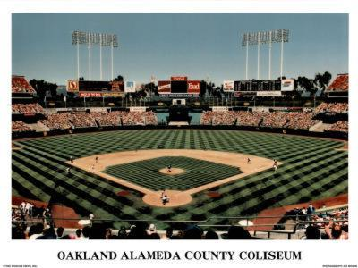 Ira Rosen Oakland Athletics Alameda County Coliseum Sports Poster Print