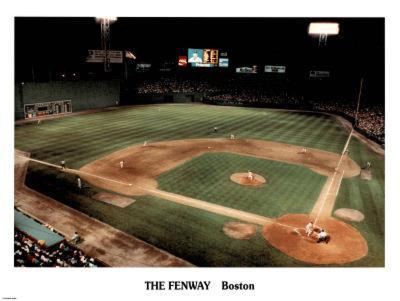 Ira Rosen Boston Red Sox The Fenway Night Sports Poster Print