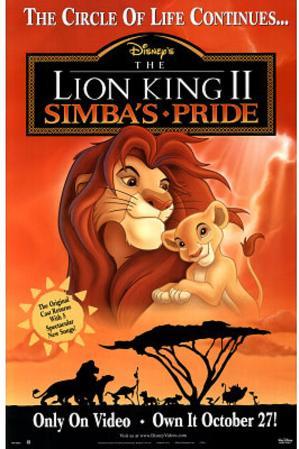 The Lion King II: Simba's Pride Movie Disney Original Poster Print