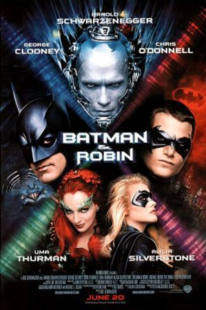 Batman and Robin Movie George Clooney Chris O'Donnell Original Poster Print