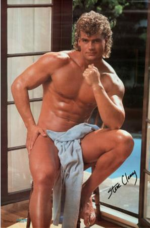 Male Model, Steve Cleary, Pose with Towel, Photo Print Poster