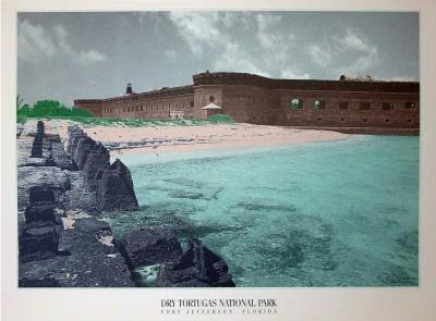 Dry Tortugas National Park (Fort Jefferson) Art Poster Print