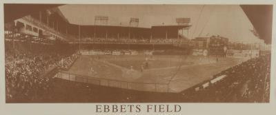 New York Ebbets Field B&W Vintage Photo Sports Poster Print