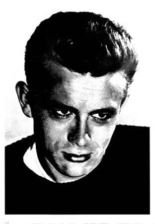 James Dean Face Close-Up Movie Poster Print