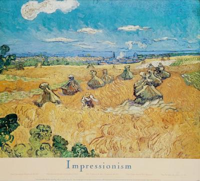Vincent Van Gogh (Wheat Fields With Reaper) Art Poster Print