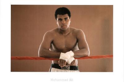Muhammed Ali (Resting on Ropes) Sports Poster Print
