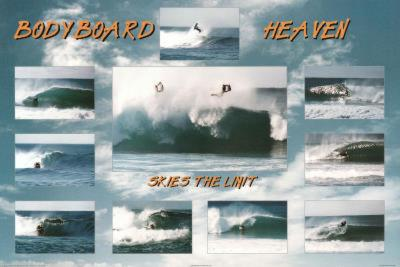 Bodyboard Heaven Sky's the Limit Sports Poster