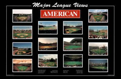 Major League Views American League Ballparks Sports Poster Print